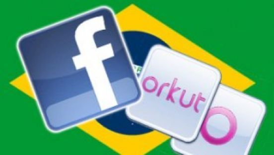 Facebook und Orkt in Brasilien Bild: Copyright mashable.com