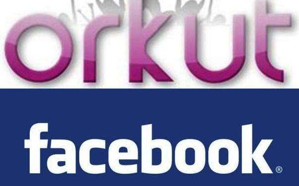 Logo Orkut Facebook
